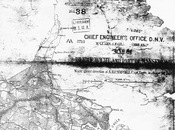 1864 Engineers Map of Fort Huger