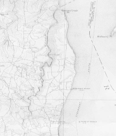 1907 Topography of Fort Huger