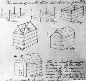 Fort Huger Civil War Encampment Hut Construction Diagram