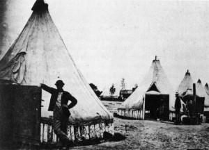 Fort Huger Civil War Encampment in Virginia