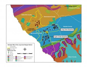 Geologic map of Long Cane Ranger District